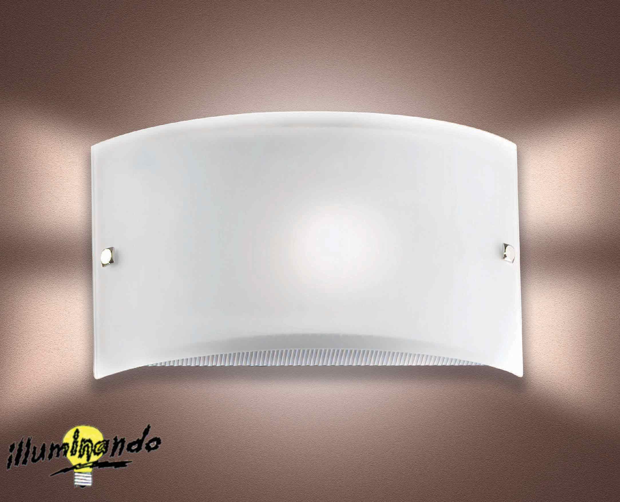 Bianca fascia applique lampade da parete stil lamp