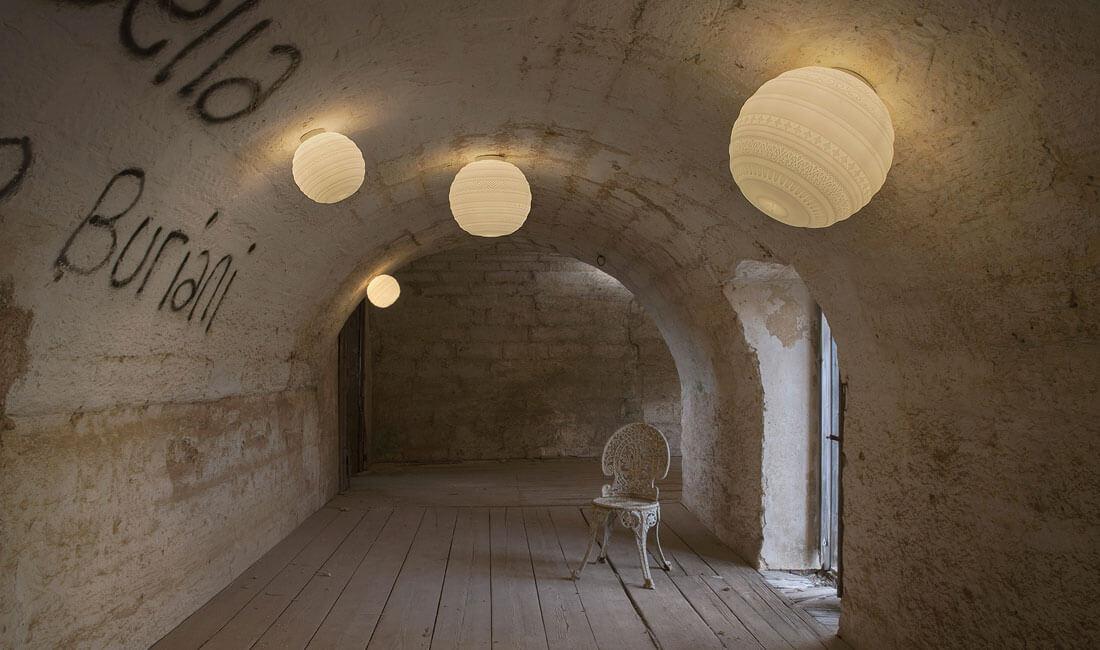 Plafoniere Vetro Satinato : Braille plafoniera applique in vetro satinato lampade da parete